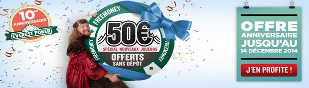 code promo Everest 50 euros