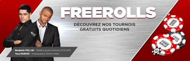 Freerolls Betclic poker