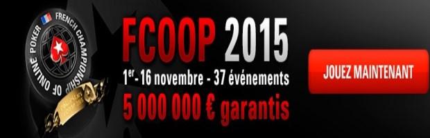 FCOOP 2015 sur Pokerstars