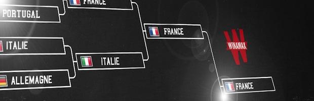 Tableau de l'Euro sur Winamax.fr