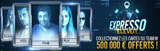 500.000€ en jeu avec Expresso Eleven de Winamax