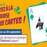 PMU Poker ouvre le Card Rush de septembre 2016 : 15.000€ en jeu avec 3 packages WPT