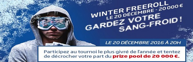 Le Winter Freeroll sur PMU Poker