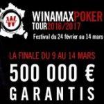 Qualifiez vous pour le Festival Winamax Poker Tour 2017 avec un total de 1.000.000 d'euros garantis