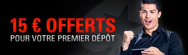 15€ offerts à l'inscription avec le code promo PokerStars