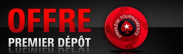 500€ offerts pour votre premier dépôt sur PokerStars