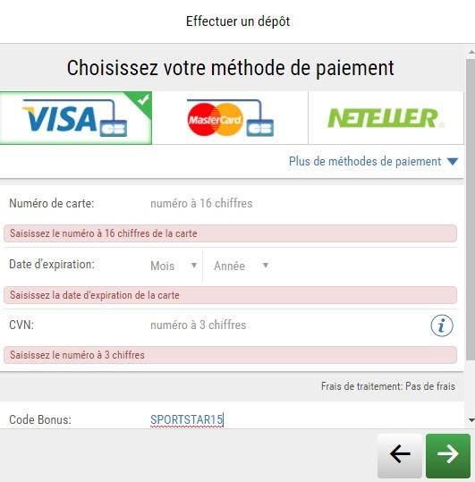 15€ offerts sur votre 1er dépôt d'argent avec PokerStars