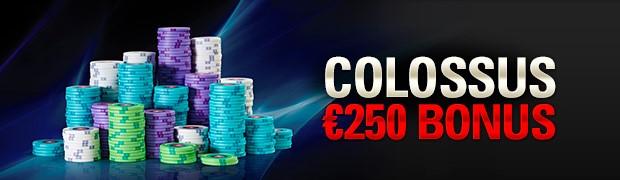 250€ offerts avec le code promo PokerStars Le Colossus