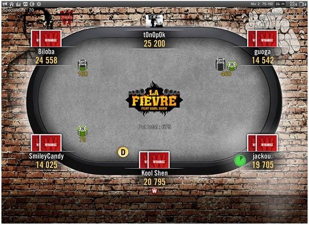 Le tournoi de Kool Shen avec Winamax Poker La Fièvre