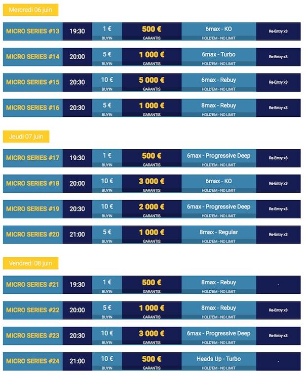 Accédez à 32 tournois à petit buy-in au mois de juin sur Betclic