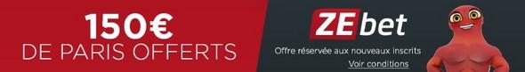 150 euros offerts sur ZEbet.fr