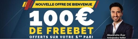 NetBet bonus paris sportifs