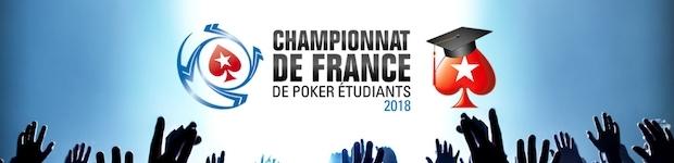 Championnat de France Etudiants 2018 sur PokerStars
