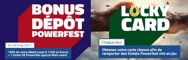 Les promotions Powerfest de PMU Poker