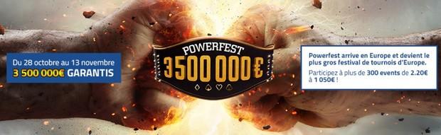 3.500.000€ mis en jeu sur PMU pour le festival de poker Powerfest