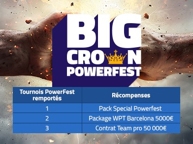Big Crown Powerfest avec PMU Poker