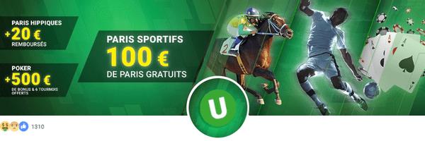 100 euros de bonus paris sportifs sur Unibet