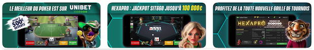 Appli Unibet poker mobile