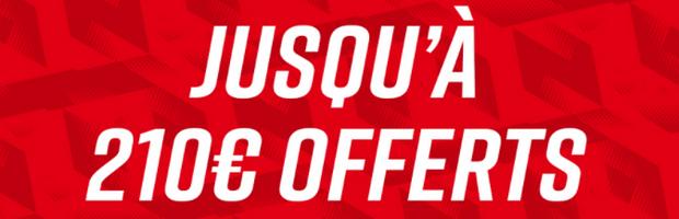 Obtenez 210 euros de paris gratuits sur Betclic.fr