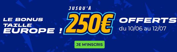 Profitez de 250 euros offerts sur ParionsSport